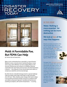DisasterRecoveryToday 4015 cover Mold Saltwater Inundation