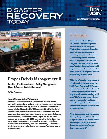 "New Edition of Disaster Recovery Today Published – ""Proper Debris Management II"""