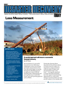 Disaster Recovery Today - Loss Measurement: Loss Measurement