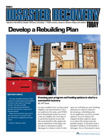 Disaster Recovery Today - Develop a Rebuilding Plan: Develop a Rebuilding Plan
