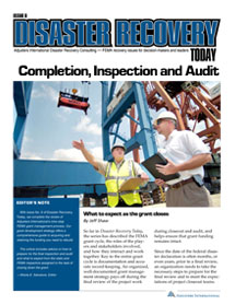 Disaster Recovery Today - Completion, Inspection and Audit: Completion, Inspection and Audit