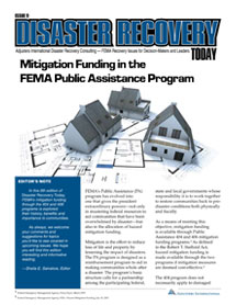 Disaster Recovery Today - Mitigation Funding in the FEMA Public Assistance Program: Mitigation Funding in the FEMA Public Assistance Program