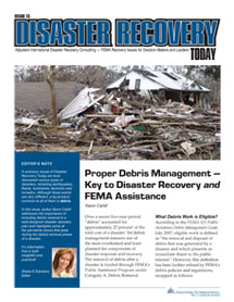 Disaster Recovery Today - Proper Debris Management: Proper Debris Management