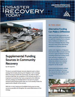 Disaster Recovery Today - Supplemental Funding Sources in Community Recovery: Supplemental Funding Sources in Community Recovery