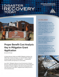 Disaster Recovery Today - Proper Benefit Cost Analysis Key in Mitigation Grant Application: Proper Benefit Cost Analysis Key in Mitigation Grant Application