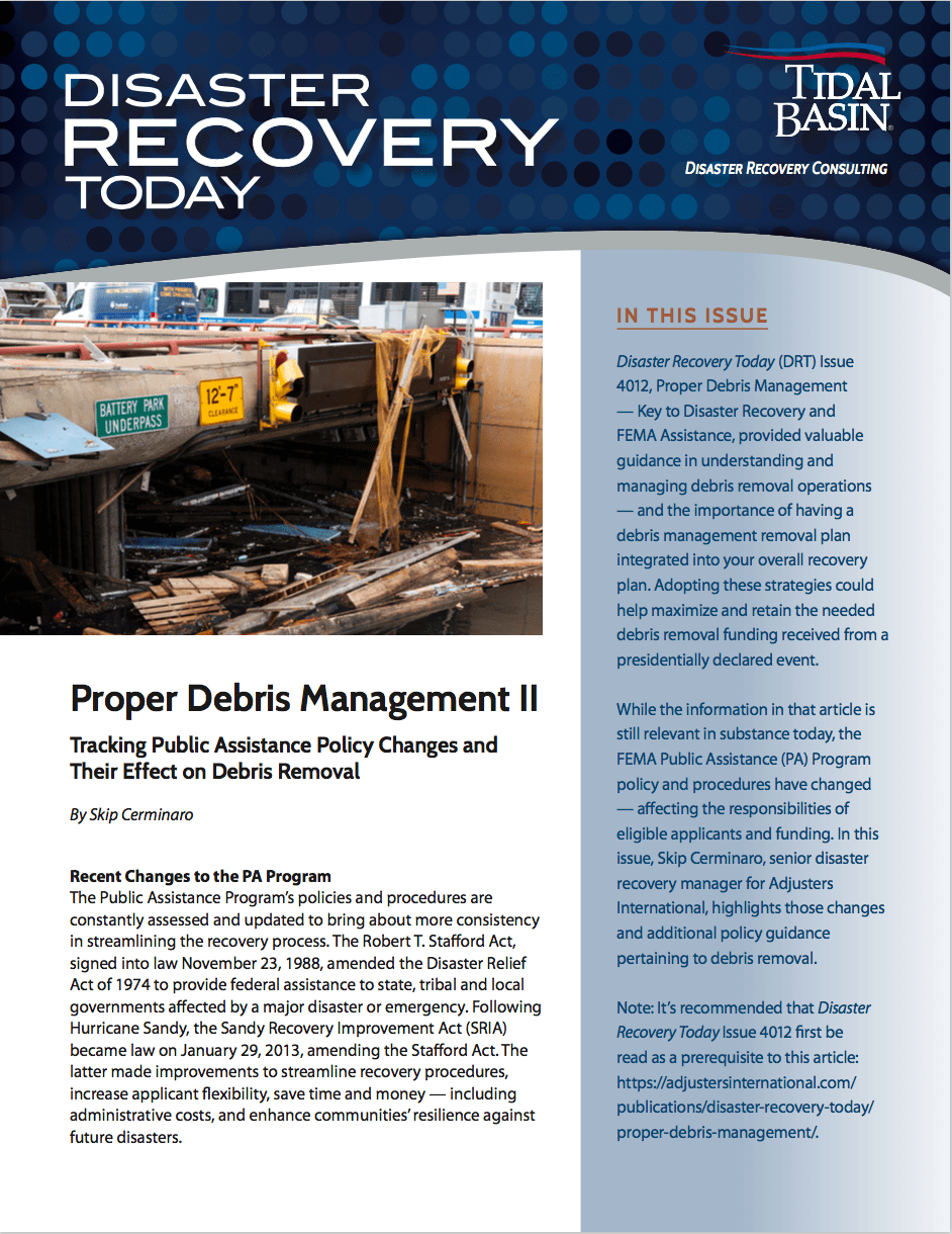 Disaster Recovery Today - Proper Debris Management II: Proper Debris Management II